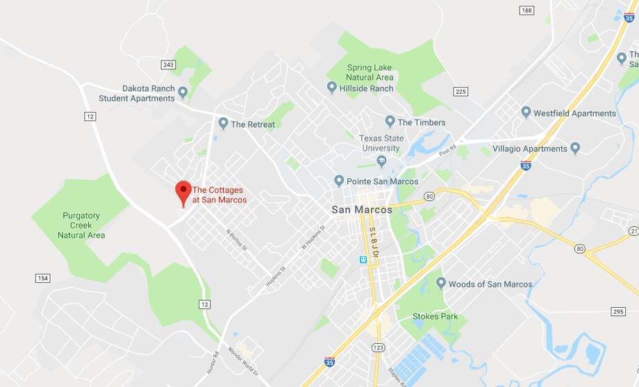 According to police, the man broke into the victim's apartment at the Cottages of San Marcos, an upscale housing complex in the 1400 block of Craddock Avenue, and waited for her to return home. Photo: Google Maps