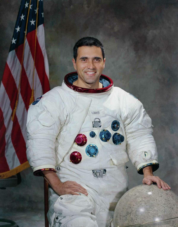 Astronaut Harrison H. Schmitt is shown in this 1971 photo.