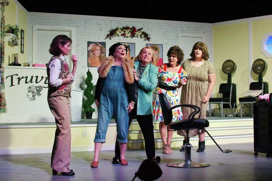 "Witty, Southern-style sayings abound in Art Park Players' production of ""Steel Magnolias."" The show features Shawna Glad, left, Betty Groos, Anne Boyd, Robin McDougald and Shelby Mayes. Photo: Kirk Sides / Staff Photographer / © 2019 Kirk Sides / Houston Chronicle"