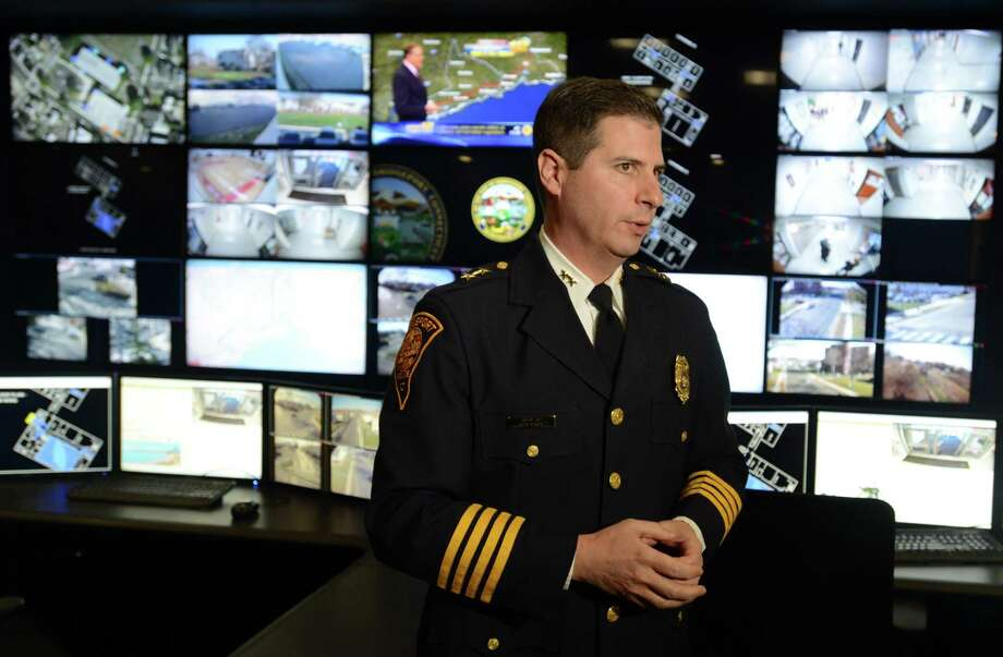 Bridgeport's Assistant Police Chief James Nardozzi talks about the city's new BSAFE Video Security Command Center Wednesday, Nov. 25, 2015, at the Margaret Morton Government Center. Photo: Autumn Driscoll / Hearst Connecticut Media / Connecticut Post