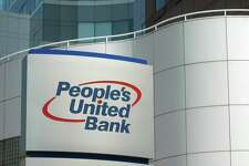 File photo of a People's United Bank sign.