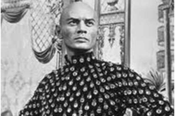 "Yul Brynner in the original ""King and I"" from 1951 at the Shubert."