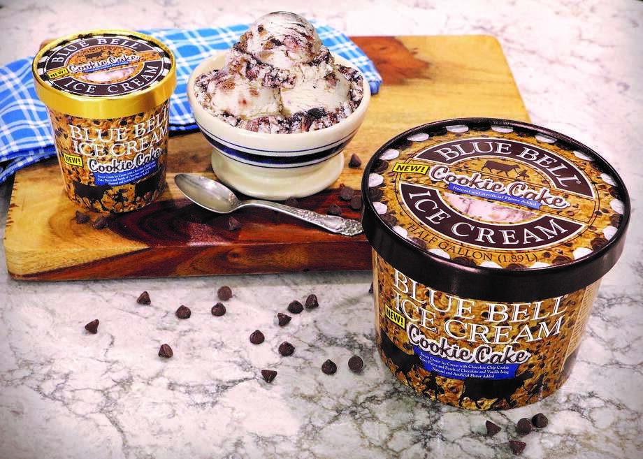 The new Cookie Cake Ice Cream from Blue Bell is now in stores. Photo: Courtesy