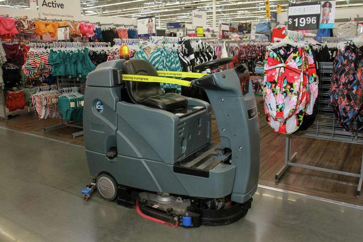 Walmart showed off an autonomous floor cleaner April 26 at a store in Richmond.