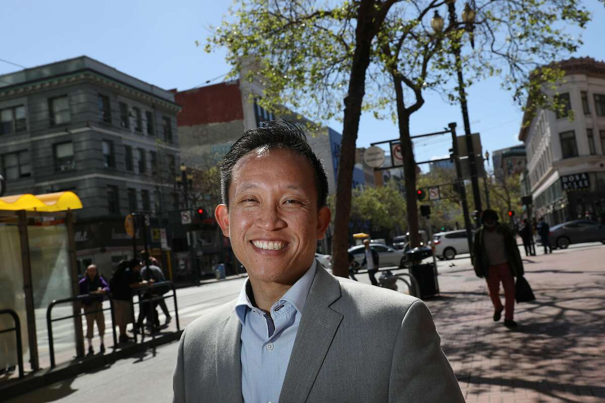 David Chiu stands for a portrait on Market Street on Friday, March 22, 2019 in San Francisco, Calif.
