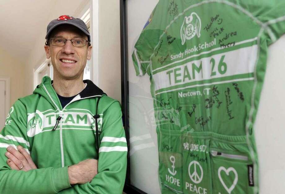 Monte Frank, a Sandy Hook bicyclist, and an assistant town attorney, is the leader of Team 26. Photo: Carol Kaliff