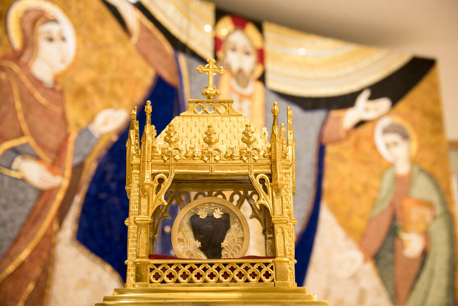 The heart of St. John Vianney, a French priest who died in 1959, will visit the Cathedral of the Immaculate Conception on Friday as part of its national tour. Photo: Courtesy Knights Of Columbus