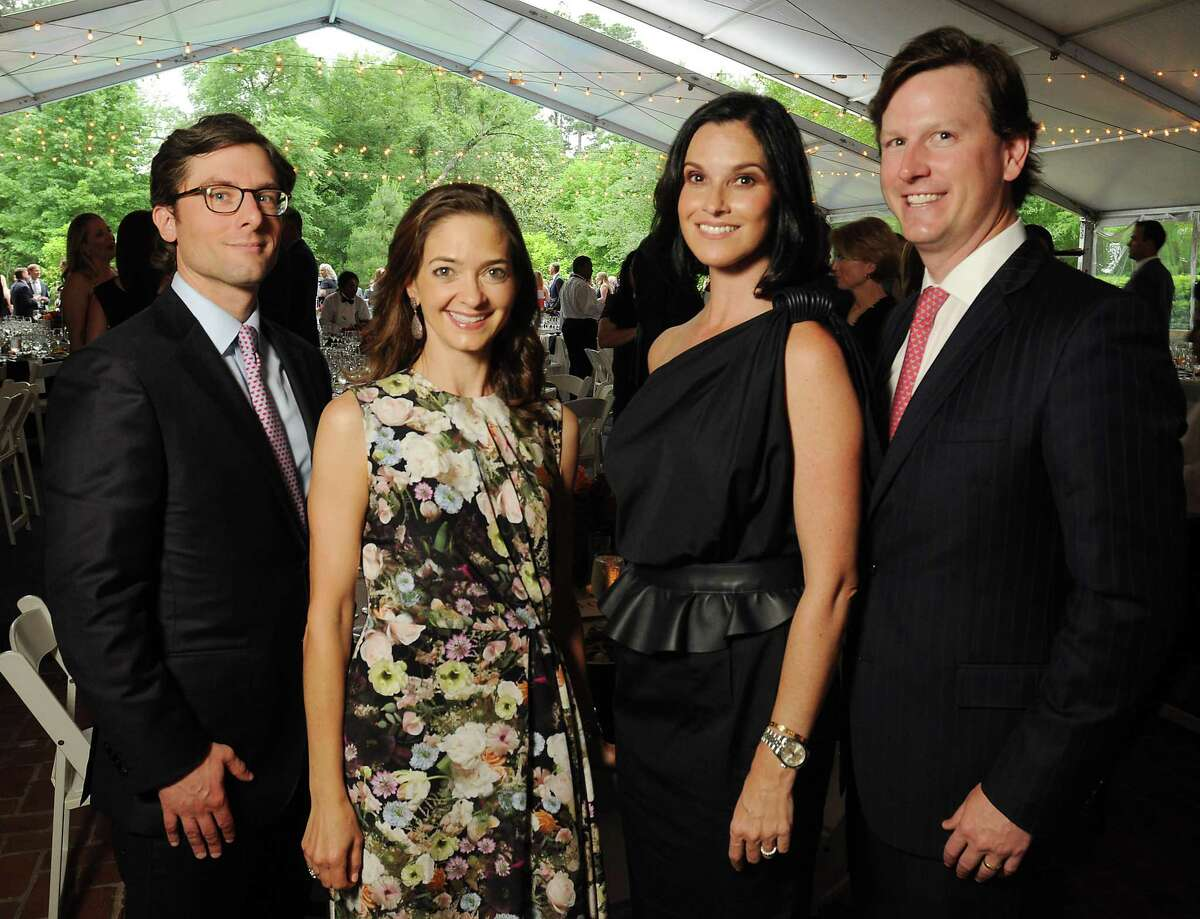 From left: Chairs Ed Bialas, Kate Bialas, Alicia Kimmel and Robert Kimmel at the Small Steps annual wine classic at the Bayou Club Wednesday April 24, 2019. (Dave Rossman Photo)
