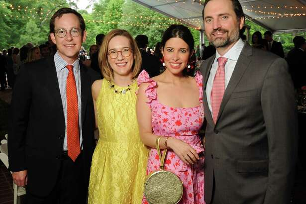 From left: David and Emily Sheeran with Maria and Graham Lowrey at the Small Steps annual wine classic at the Bayou Club Wednesday April 24, 2019. (Dave Rossman Photo)