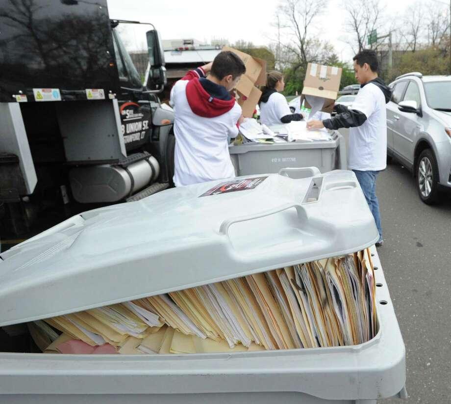A paper-shredding event will be held from 9:30 a.m. to noon Saturday at the Island Beach parking lot. Shred old financial statements, medical records and documents that contain sensitive and personal information. Papers will be recycled. The cost is $2 per box, with a maximum of five boxes. (No bags.) Do not include file folders, envelopes, magazines, cardboard, newspapers, metal and plastic clips, plastic bindings and covers. (Staples are OK). For information, email GreenwichRecycles@gmail.com or call 203-629-2876. Photo: File / Hearst Connecticut Media / Greenwich Time