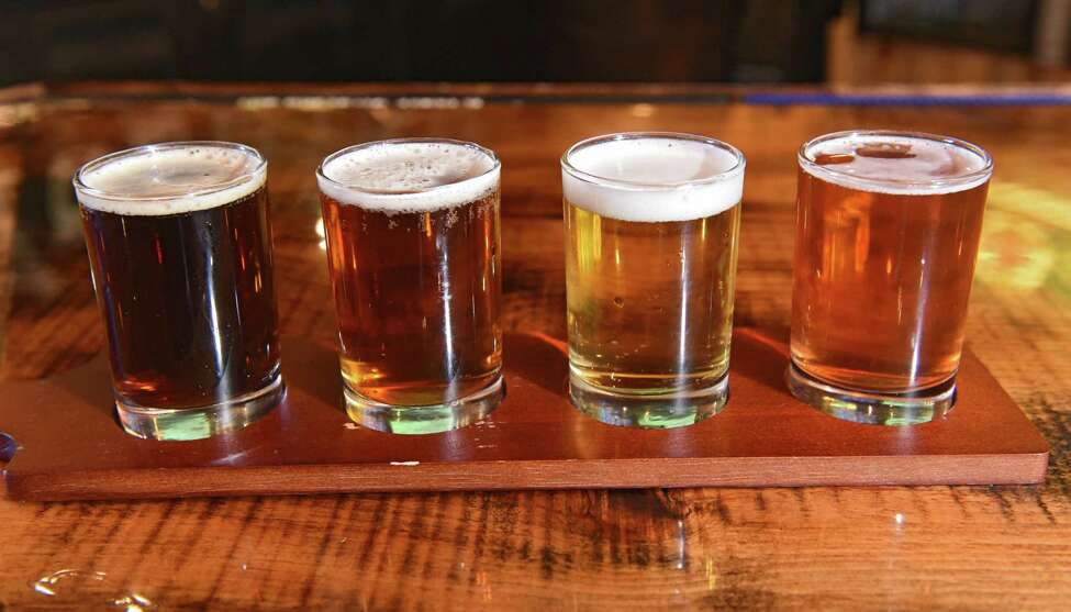 A flight of beer at M&M's Tap and Tavern on Wednesday, April 17, 2019 in New Lebanon, N.Y. (Lori Van Buren/Times Union)