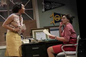 "Dria Brown, left, and Chalia La Tour in ""Cadillac Crew"" at Yale Rep."