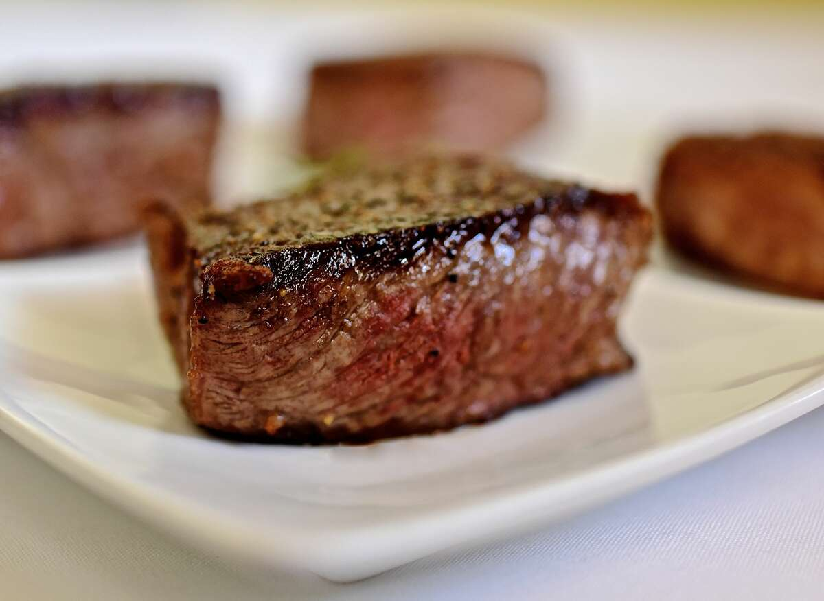 Steak flight (four steaks) at Killen's Steakhouse.