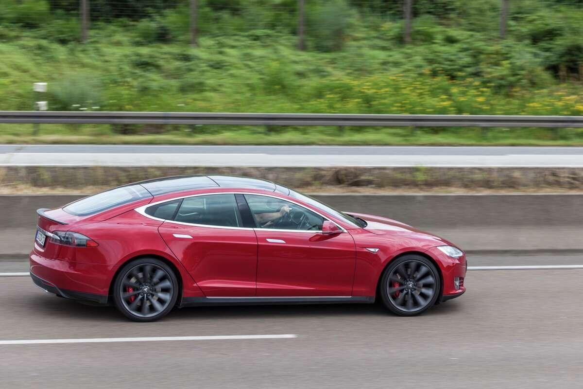 A 2016 Tesla Model S.
