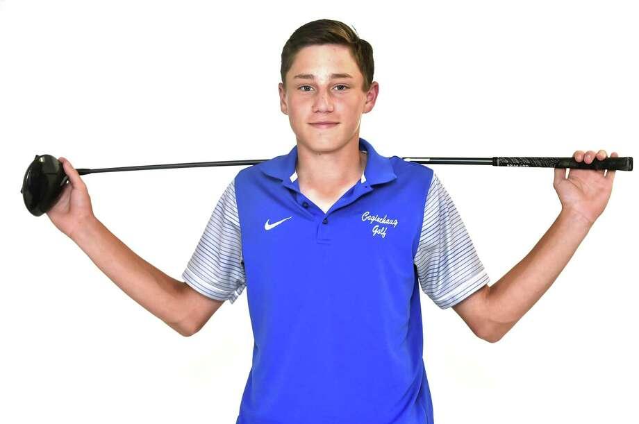 Coginchaug golfer Tyler Woodward. Photo: Peter Hvizdak / Hearst Connecticut Media / New Haven Register