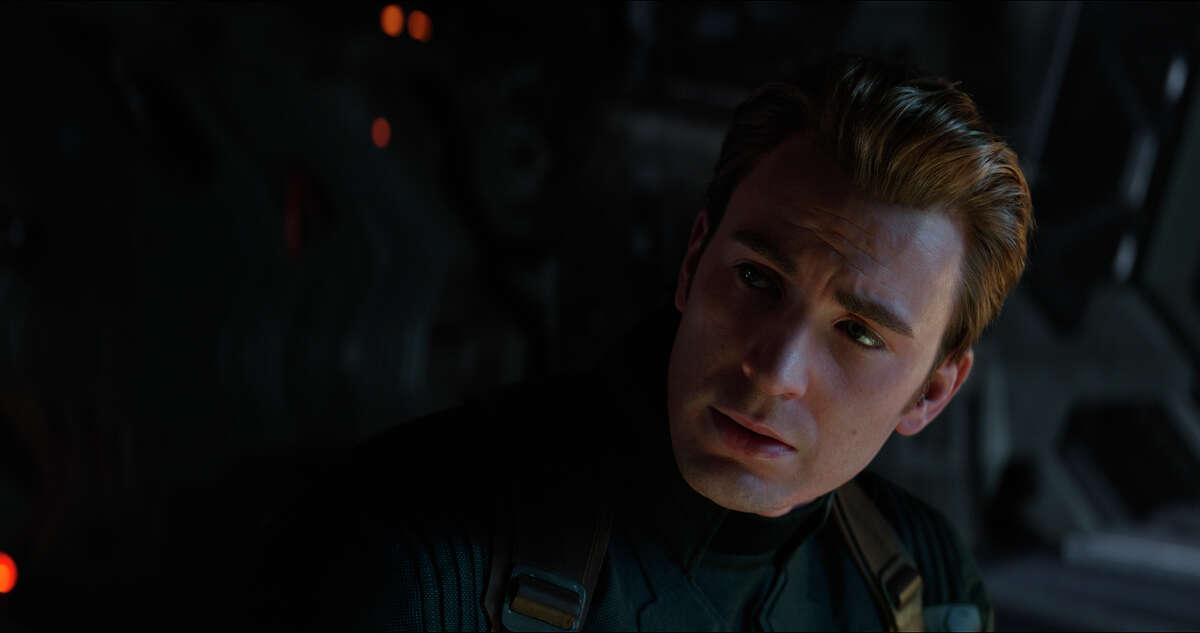 This image released by Disney shows Chris Evans in a scene from ?Avengers: Endgame.? (Disney/Marvel Studios via AP)
