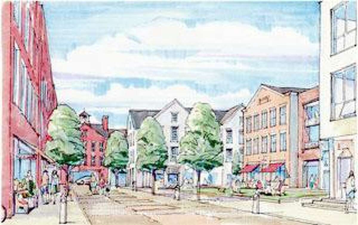 A sketch of Village Square, a part of the Corbin Project.
