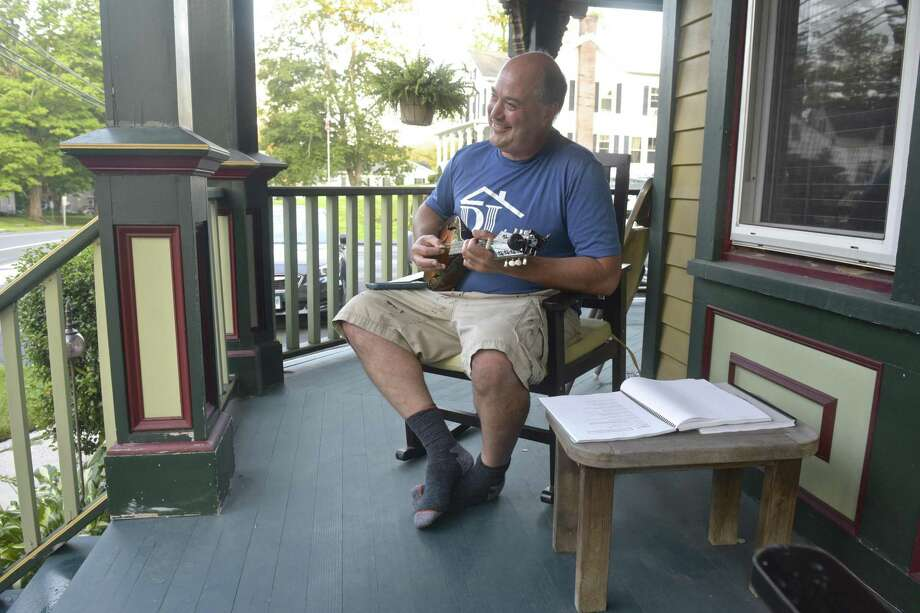 The American porch is not as ubiquitous — or as used — as it once was. Photo: H John Voorhees III /Hearst Connecticut Media / The News-Times