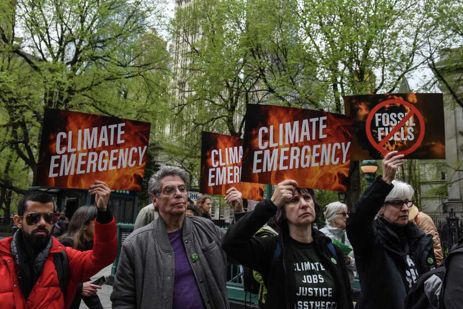 Activists protesting Wednesday in New York City represent one outlook on climate change. Divergent views on the issue is slowing action. Photo: Stephanie Keith /Getty Images / 2019 Getty Images