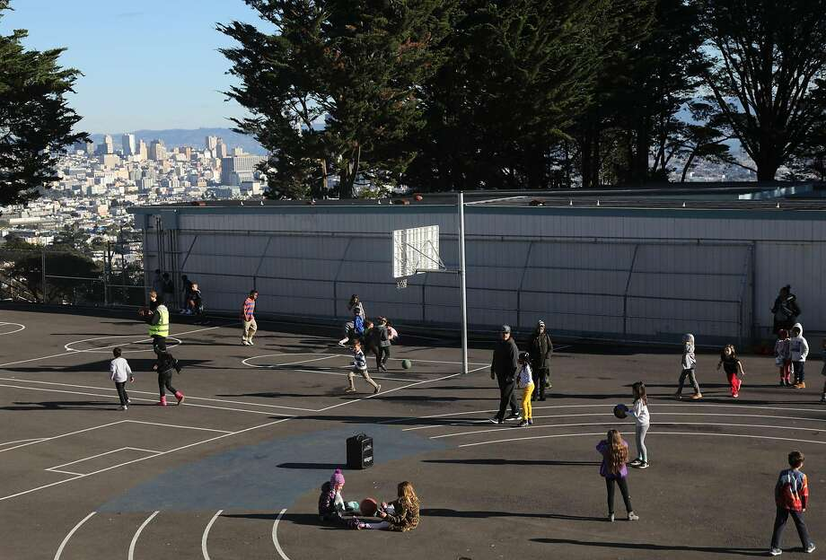 The playground at Roof Top Elementary School in San Francisco, Dec. 6, 2018. A system designed to empower parents and integrate schools has not worked as intended, offering a cautionary tale to districts across the country. (Jim Wilson/The New York Times) Photo: Jim Wilson, NYT