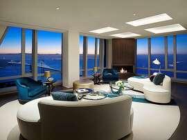Living room at 55th floor of 181 Fremont Street