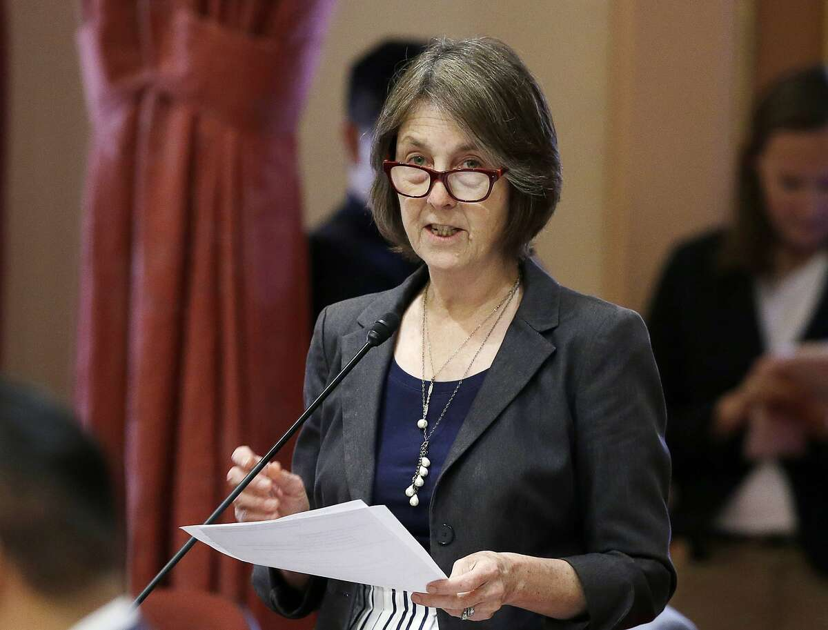 State Sen. Nancy Skinner, D-Berkeley, on May 30, 2018, in the Senate in Sacramento. Skinner is carrying a new bill that would set bail at $0 for misdemeanors and nonviolent felonies.