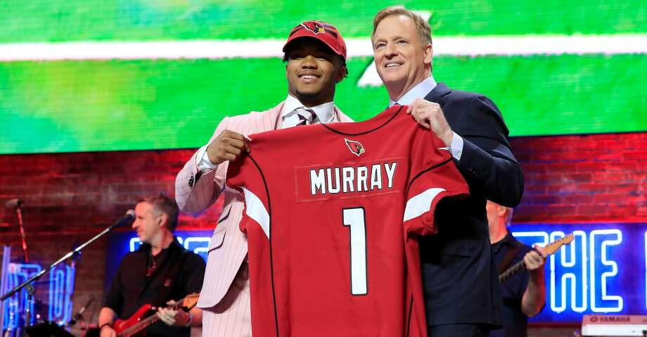 NASHVILLE, TENNESSEE - APRIL 25:  Kyler Murray Oklahoma poses with NFL Commissioner Roger Goodell after he was picked #1 overall by the Arizona Cardinals during the first round of the 2019 NFL Draft on April 25, 2019 in Nashville, Tennessee. (Photo by Andy Lyons/Getty Images) Photo: Andy Lyons/Getty Images