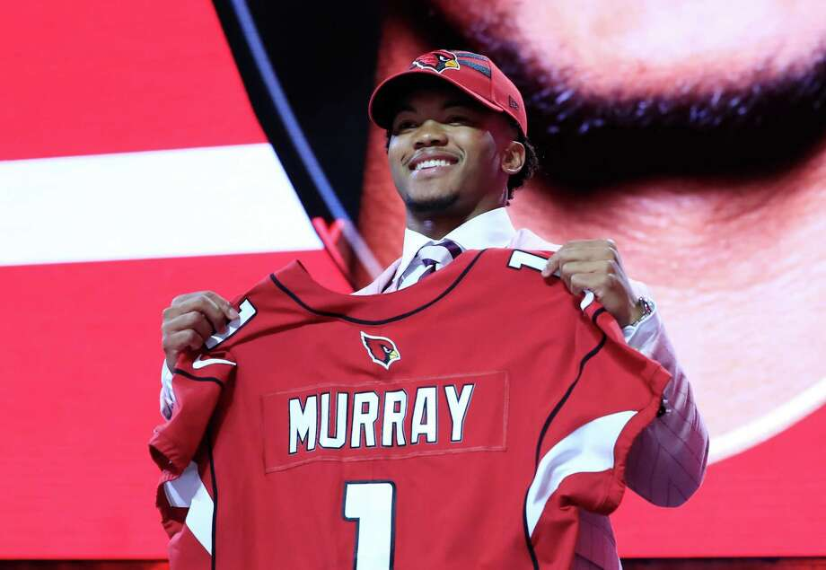 NASHVILLE, TENNESSEE - APRIL 25: Kyler Murray Oklahoma reacts after he was picked #1 overall by the Arizona Cardinals during the first round of the 2019 NFL Draft on April 25, 2019 in Nashville, Tennessee. (Photo by Andy Lyons/Getty Images) Photo: Andy Lyons, Staff / Getty Images / 2019 Getty Images