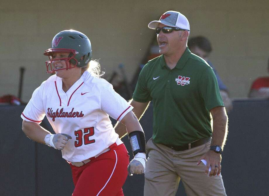 Katie Emberton of The Woodlands smiles after hitting a two-run home run against Dekaney on Thursday. Photo: Jason Fochtman, Houston Chronicle / Staff Photographer / © 2019 Houston Chronicle