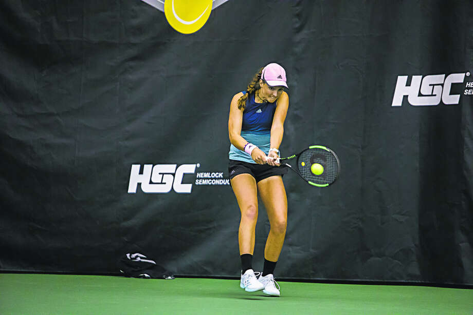 Midland's Ellie Coleman competes in the 2019 Dow Tennis Classic earlier this year. Photo: Daily News File Photo