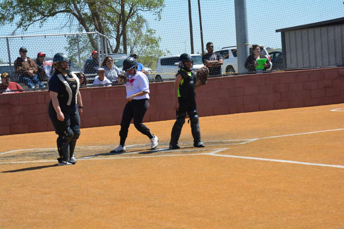 Participants in the Texas District 8 Little League took to the field for a round-robin tournament in Lockney on Saturday. Tournament participants included teams from Petersburg, Floydada and two from Lockney. Pictured: Lockney 14u play Lockney 12u during one of the round-robin matchups.