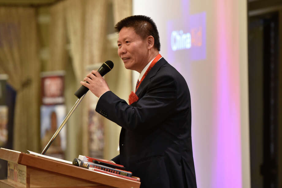 Bob Fu, founder and president of the ChinaAid Association, speaks during the ChinaAid banquet Thursday at Midland Country Club. James Durbin/Reporter-Telegram Photo: James Durbin / Midland Reporter-Telegram / ? 2019 All Rights Reserved