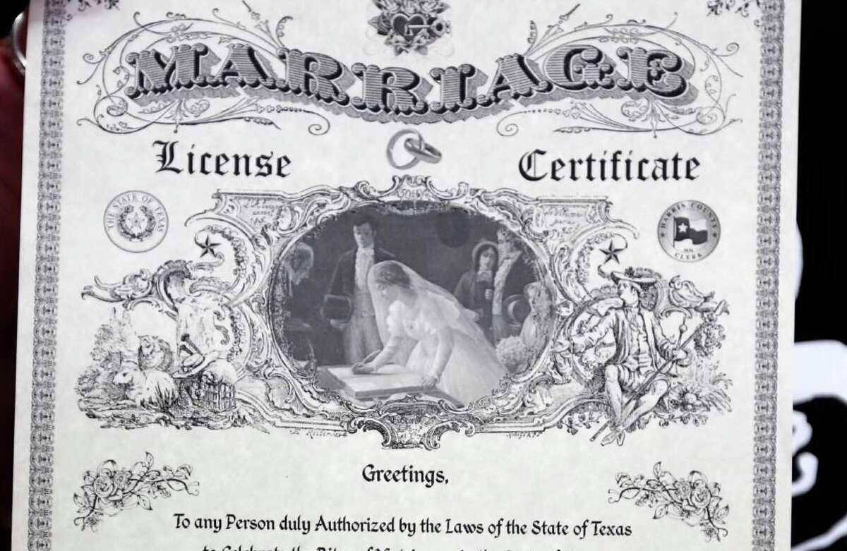 Harris County's ornate marriage certificates