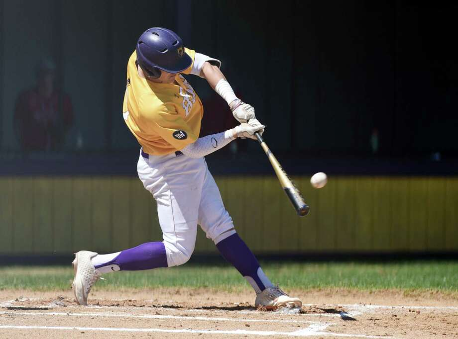 Ballston Spa's Luke Gold hits the first homerun of the game during a game against Niskayuna on Thursday, April 25, 2019 at Ballston Spa High School in Ballston Spa, NY. (Phoebe Sheehan/Times Union) Photo: Phoebe Sheehan / 40046609A