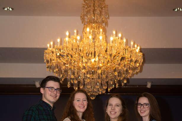 WBU senior art students Justus Brozek, Aimee Brooks, Marissa Felton and Morgan Holliday Tiner will have their work on display in the Abraham Art Gallery through May 11.