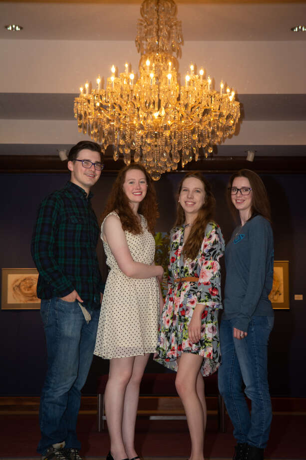 WBU senior art students Justus Brozek, Aimee Brooks, Marissa Felton and Morgan Holliday Tiner will have their work on display in the Abraham Art Gallery through May 11. Photo: WBU/Courtesy Photo