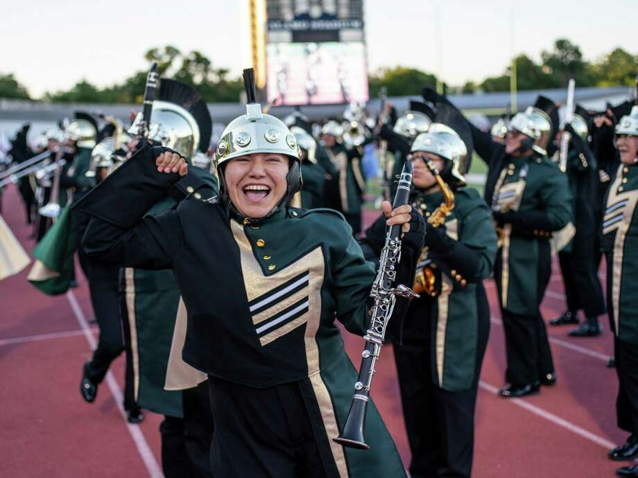 "Southwest Legacy High School performs ""High Hopes,"" during the Battle of Flowers Band Festival at Alamo Stadium in San Antonio on Thursday, April 25, 2019. Photo: Matthew Busch / Contributor, For The San Antonio Express-News / © Matthew Busch"