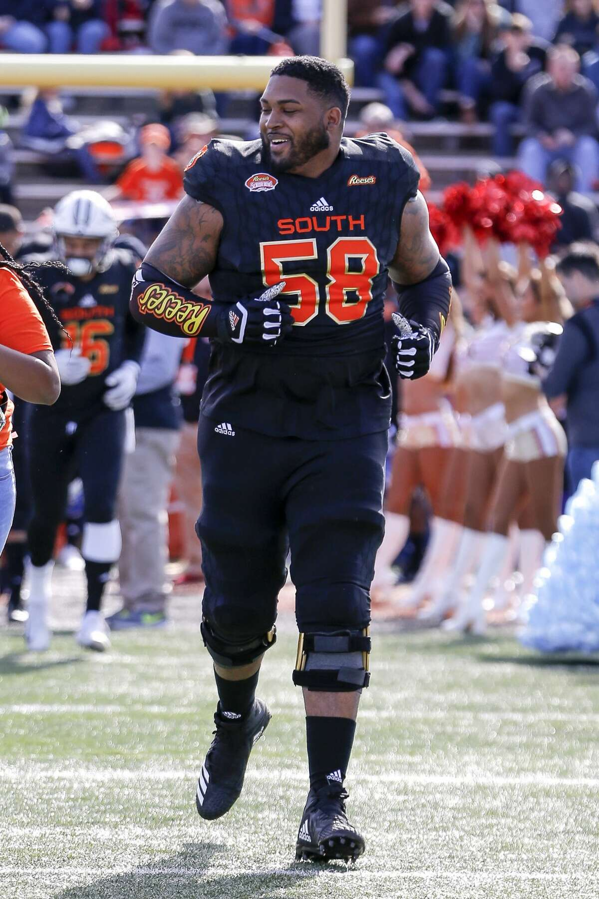 Jumped out a the Senior Bowl Howard really put himself on teams' radars with his performance at the Senior Bowl, where he looked like the most athletic offensive lineman on the field.