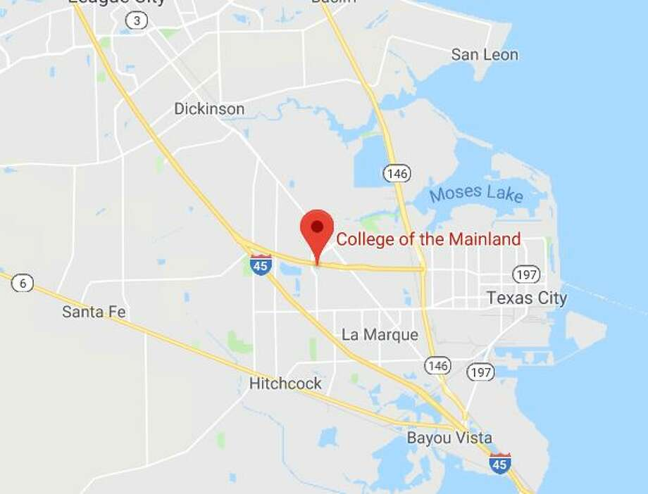 Google Maps view of the College of the Mainland campus in Texas City. Two cadets were shot at the school's Law Enforcement Training Academy.l Photo: Google Maps
