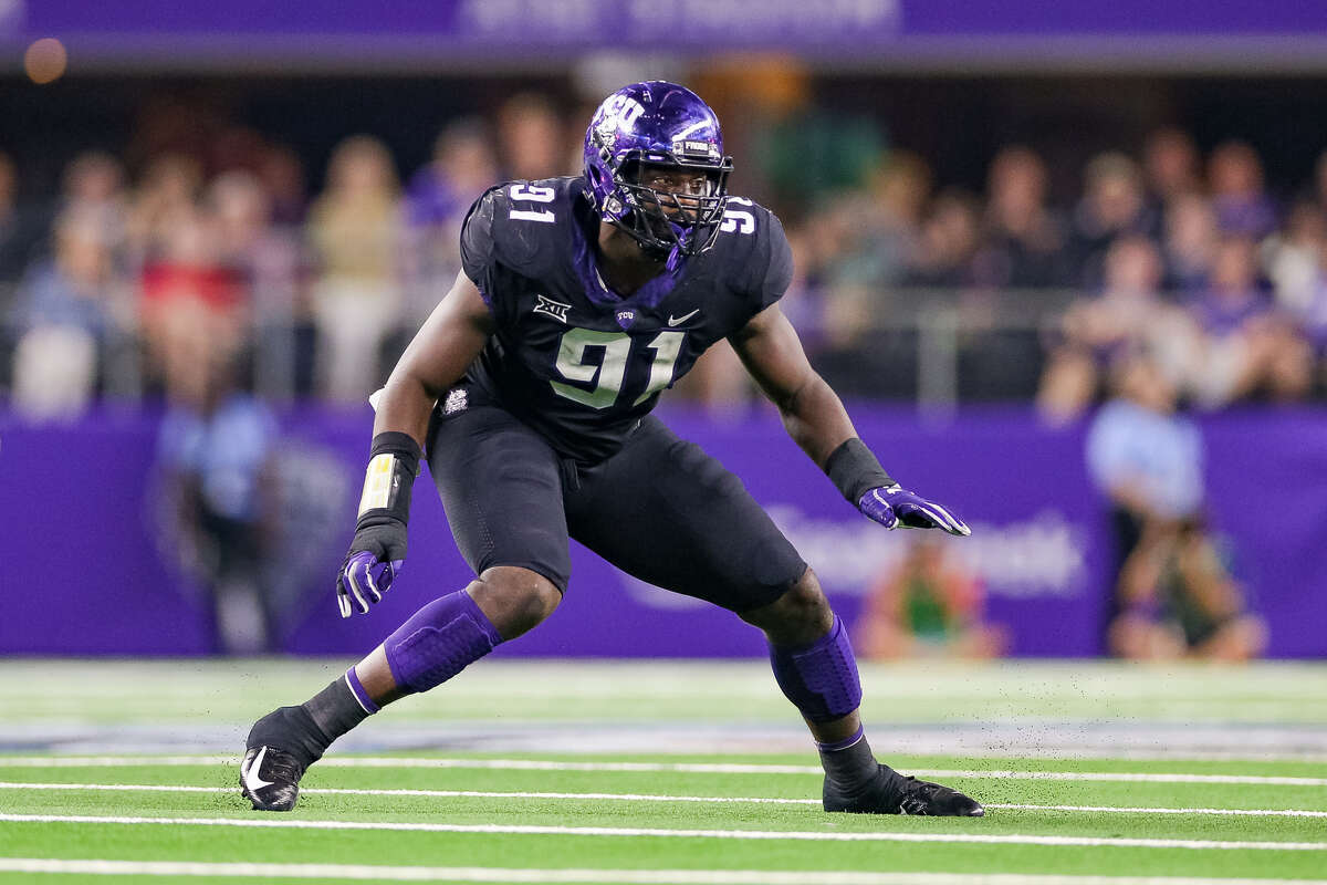 Collier had six sacks for the Horned Frogs last season, and 14.5 overall for his career.
