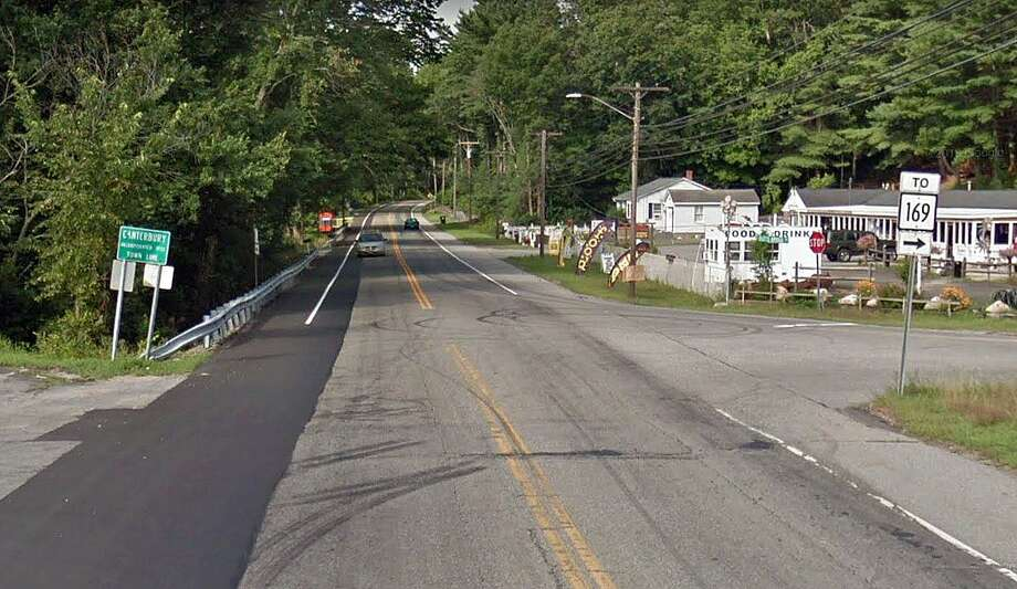 This is the intersection where a 26-year-old Plainfield man was killed in Canterbury on Thursday, April 25, 2019. Anthony Burgess, 26, of Plainfield died after the crash which occurred at the intersection of Route 12 and Butts Bridge Road at around 7 a.m. State Police said his motorcycle collided with a pickup truck. Photo: Google Street View Image