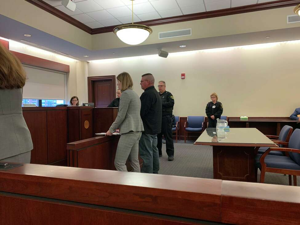 Albany County jail guard Michael Snyder not guilty during his arraignment Friday on an indictment that accuses him of raping a prisoner at the jail.