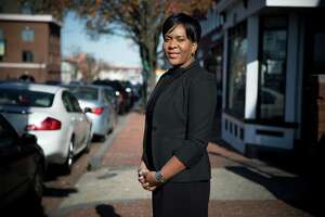 LaToya White, chief executive of Sylver Rain Consulting, outside her office in the Anacostia neighborhood in Washington.