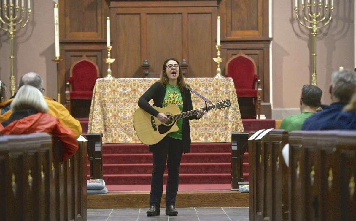 Francine Wheeler, who's son Ben was killed at Sandy Hook Elementary School, sang a slightly reworded