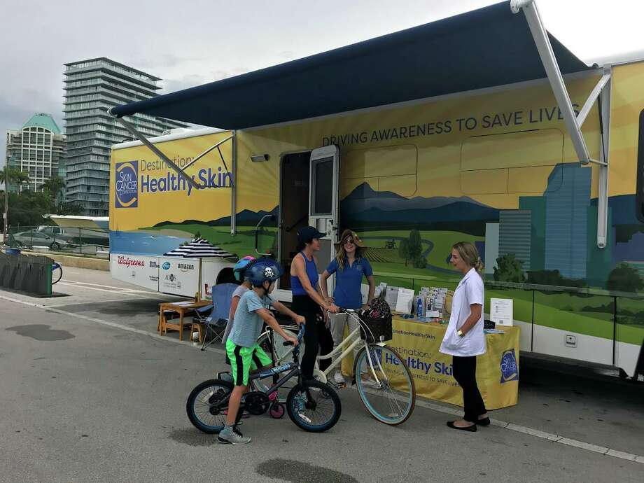 The Skin Cancer Foundation wants young people and their parents to know that skin cancer can affect them too. The foundation encourages full skin exams at least once a year. In June 2019, the Destination: Healthy Skin RV gave free exams at Discovery Green. Photo: Courtesy Photo