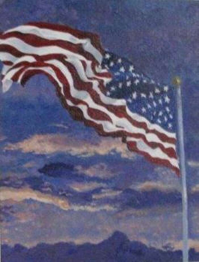 Alexandra Sippel of Tompkins High School won $150 for her painting of Old Glory as the third-place winner in the Katy Veterans of Foreign Wars Post 9182 Auxiliary's Young American Creative Patriotic Art contest. Photo: Katy Veterans Of Foreign Wars Post 9182 Auxiliary / Katy Veterans Of Foreign Wars Post 9182 Auxiliary