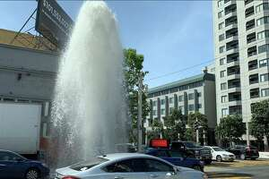 Residents have been asked to avoid the area by Turk St. and Van Ness Ave after a box truck hit a fire hydrant that rapidly spewed water into the Tenderloin neighborhood.