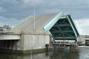 The Stroffolino Bridge over the Norwalk river opens for boat traffic on Wednesday June 6, 2018 in Norwalk Conn