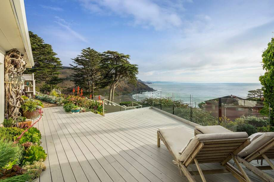 A Muir Beach compound with two cottages beautifully remodeled and decorated by the interior designer owner Victoria Hamilton-Rivers is listed for $3.295 million. Photo: Kurt Lai Photography