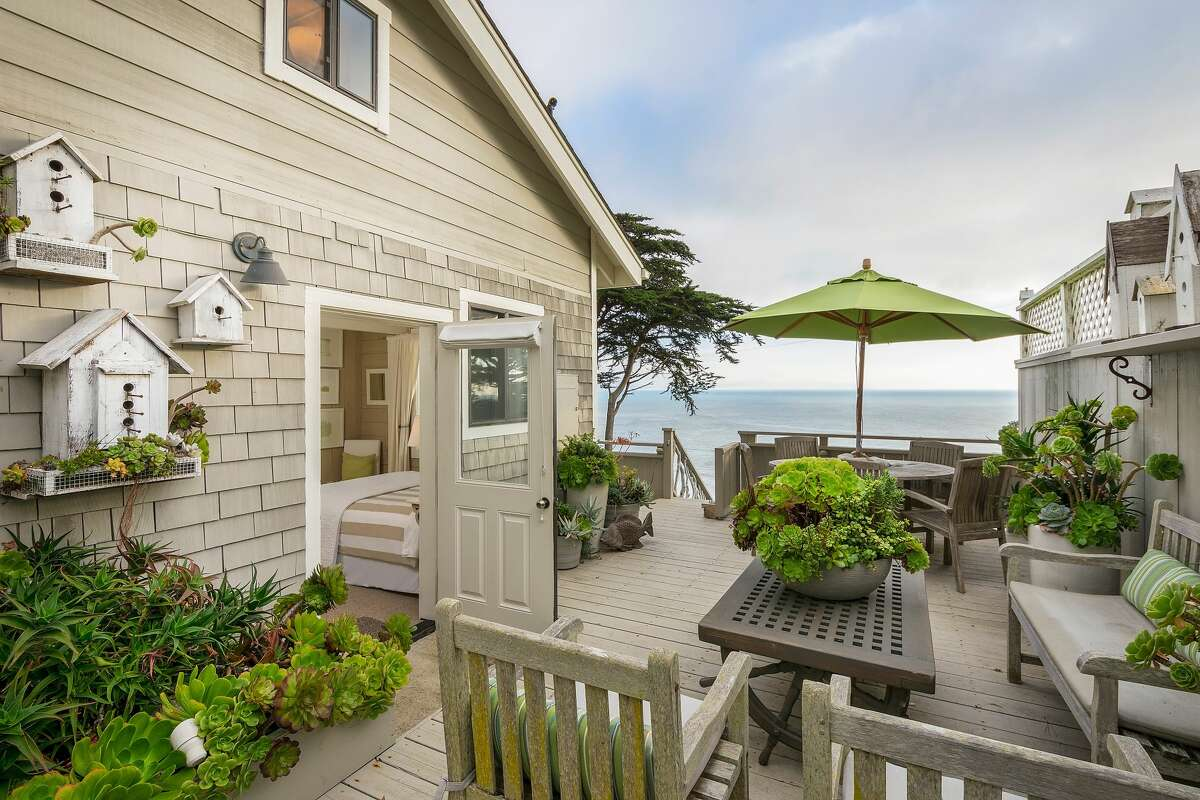 A Muir Beach compound with two cottages beautifully remodeled and decorated by the interior designer owner Victoria Hamilton-Rivers is listed for $3.295 million.